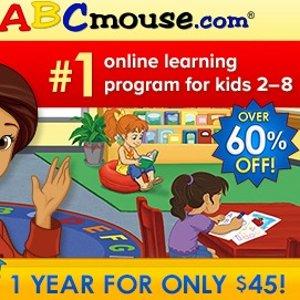 3.8折 一年仅$45ABCmouse儿童趣学美语天地早教1年会员促销