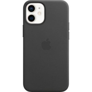 Apple- iPhone 12 mini Leather Case with MagSafe - Black