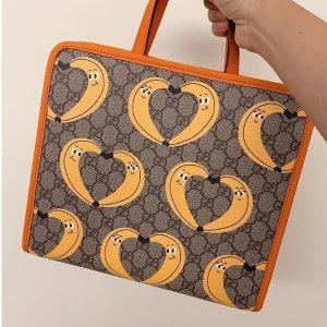 成人也可穿 性价比爆棚Gucci 大童区上新 超萌香蕉腰包€380、38码小白鞋€250