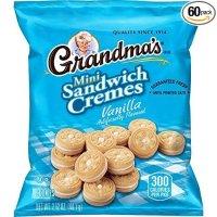 Grandma's 香草夹心迷你饼干 60袋装