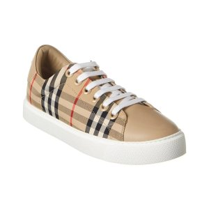 Burberry Vintage Check Canvas & Leather Sneaker