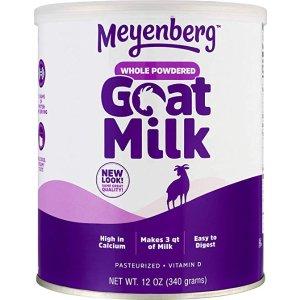 再降价 $8.07+免邮 4.5星高分商品Meyenberg 全脂100%纯山羊奶粉(含维他命D) 12盎司