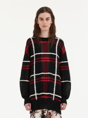 Patched Tartan Check Sweater  McQ | Jumper |    