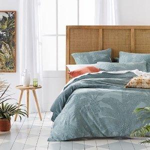 Jungle Palm Matelasse Soft Sage床品套装