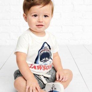 新款5折最后一天:Carter's 男童特卖专场 潮Tee+短裤 做最靓的崽 短裤$6.47