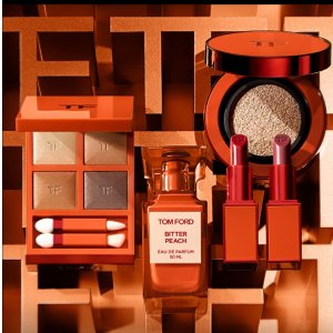 坐等发售 11月国内首发美妆速递:TOM FORD 苦桃系列彩妆 4色眼影盘、肉桂奶茶唇膏