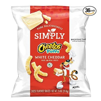 $8.77Simply Cheetos Puffs White Cheddar Cheese Flavored Snacks 36 Count