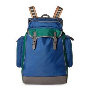 BurberryBlue Casual Jack Nylon Backpack