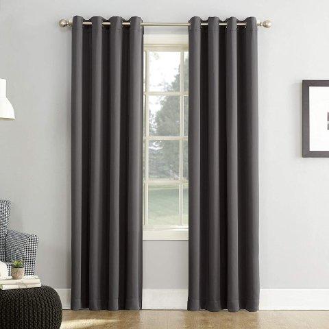 Sun Zero Easton Blackout Energy Efficient Grommet Curtain Panel, 54