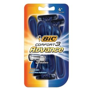 $1.81BIC Comfort 3 Advance Disposable Razor, Men, 4-Count