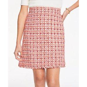 Ann TaylorPetite Fringe Tweed A-Line Skirt | Ann Taylor