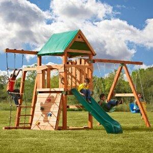 低至2.5折 秋千$12收史低价:Swing-n-Slide 儿童户外秋千滑梯硬件套装及配件促销