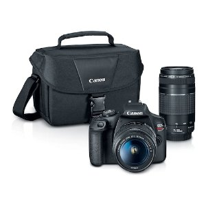 仅$499.99 还送$150礼卡Canon EOS Rebel T7 + 18-55mm和EF 75-300mm 镜头
