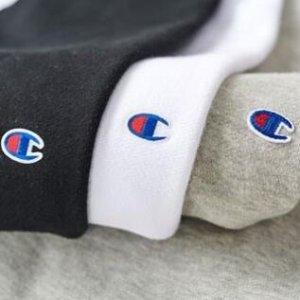 小C标短袖两件直邮含税$64Champion 潮牌鼻祖 卫衣、T恤热卖中  不同于美版哦
