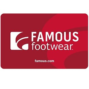 E-mail Delivery$50 Famous Footwear Gift Card $40 & more