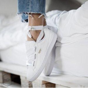 39码到手¥206史低价:Puma Basket Heart Patent 大表姐同款蝴蝶结女鞋