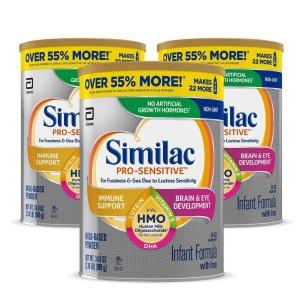 SimilacPro-Sensitive 非转基因敏感型婴儿奶粉 3罐