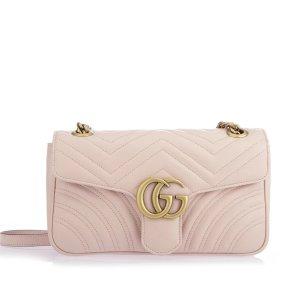 Gucci相当于$1708.61,比官网便宜$393GG Marmont Matelasse 樱花粉链条包