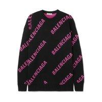Balenciaga logo毛衣