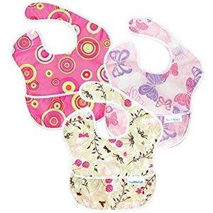 $7.88  平均每个$2.6史低价:Bumkins 宝宝防水围兜 3个装