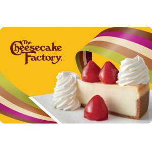 买$25礼卡赠2块芝士蛋糕The Cheesecake Factory 感恩节礼卡活动