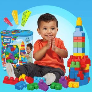 $14.97(原价$17.55)Mega Blocks 80块大积木 宝宝的第一套拼搭积木