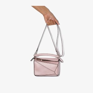 Loewepink Puzzle mini leather shoulder bag | Browns