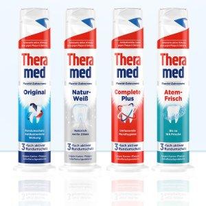 折后仅€1.15 本周买5付4Theramed 立式牙膏 3种功效 应付防蛀、清新、亮白等不同需求