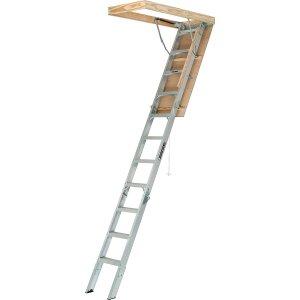 史低价:Louisville Ladder AA2210 铝制折叠阁楼梯