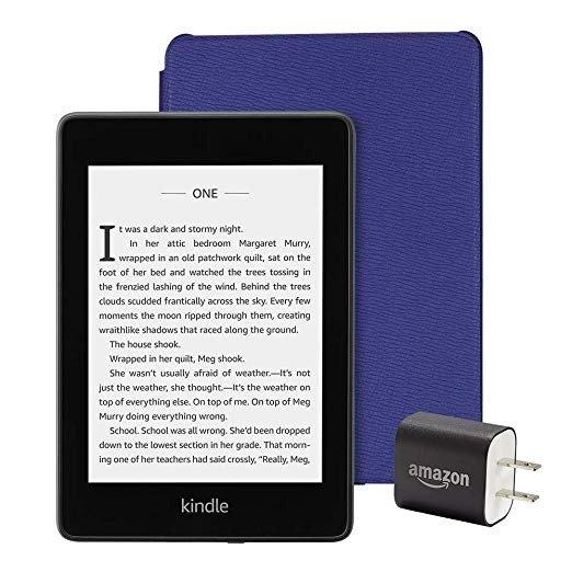 Kindle Paperwhite 黑色 32GB + 皮质保护套 + 电源适配器