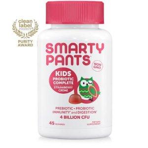 SmartyPants Kids Probiotic Complete Gummies, Strawberry Creme, 45 ct - Walmart.com