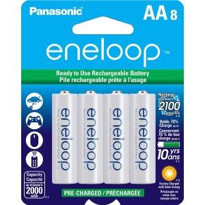 低至$14.56Panasonic eneloop 鎳氫充電電池 8個裝