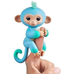 $13Fingerlings 2Tone Monkey - Charlie (Blue with Green accents) - Interactive Baby Pet - By WowWee @ Amazon