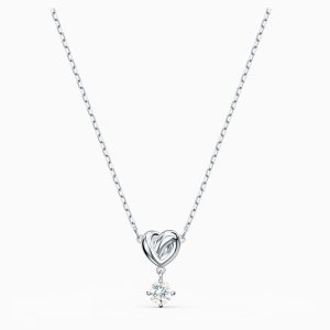 SwarovskiLifelong Heart Pendant, White, Rhodium plated by SWAROVSKI