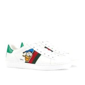Guccix Disney 联名款小白鞋
