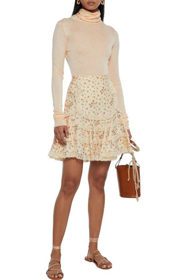 Freja lace-trimmed 半身裙