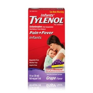 Infants' Tylenol Pain Reliever And Fever Reducer Liquid Drops - Acetaminophen - Grape - 1 Fl Oz : Target