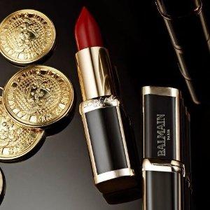 New Arrival! $14 L'OREAL PARIS X BALMAIN PARIS Lipstick @ Barneys New York