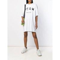 MSGM logo短袖连衣裙