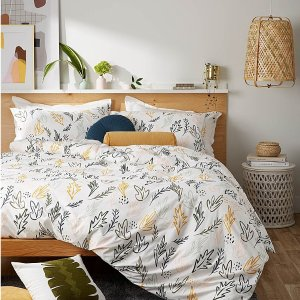 Simons Maison50%棉+50%涤纶绘制树叶床品套装