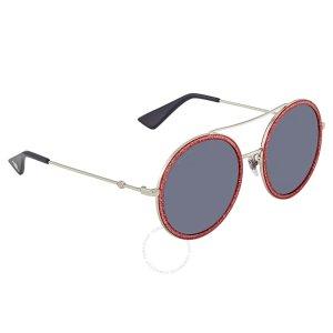 11ddb4acd88 Gucci Green Square Sunglasses GG0102S 004. GucciRound Pink Glitter Ladies  Sunglasses Round Pink Glitter Ladies Sunglasses