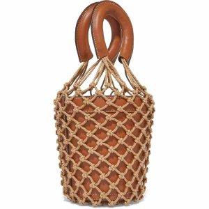 STAUD 皮革绳结编织水桶包