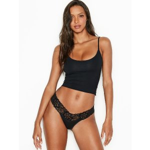 Victoria's Secret5 for $30Stretch Cotton Lace-waist Thong Panty
