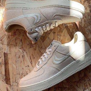 预计年底发售新品预告:Stussy x Nike Air Force 1 实物首次曝光 经典联名不容忽视