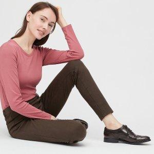 $19.9(原价$29.9)近期好价:Uniqlo 女士弹力裤 多色可选,休闲百搭