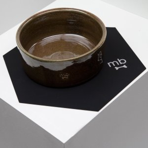 Dealmoon Exclusive:Max-Bone Black Nonslip Pet Bowl Mat