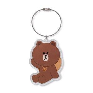 Line Friends布朗熊 香香钥匙链