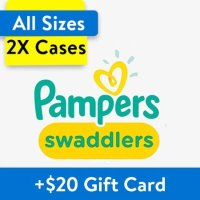 Pampers Swaddlers 尿布2箱装,以1号396片为例