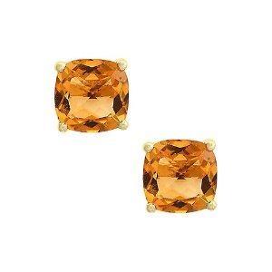 EffyFine Jewelry 14K 4.25 ct. tw. Citrine Earrings