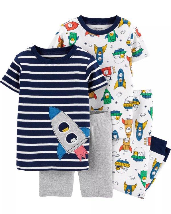 小童火箭睡衣4件套